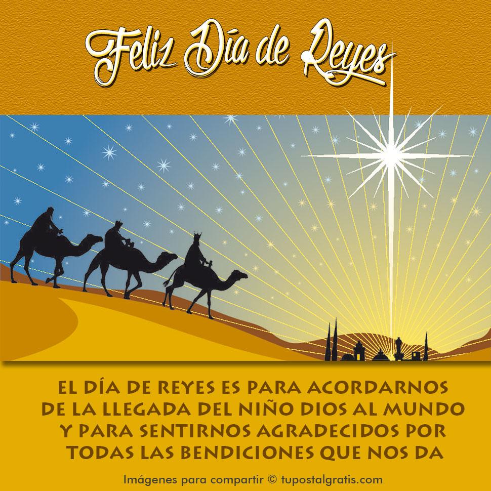 Imágenes para compartir en Reyes. La llegada del niño Dios